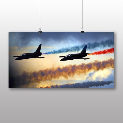 Big Box Art Fighter Jet No.3 Graphic Art Wrapped on Canvas