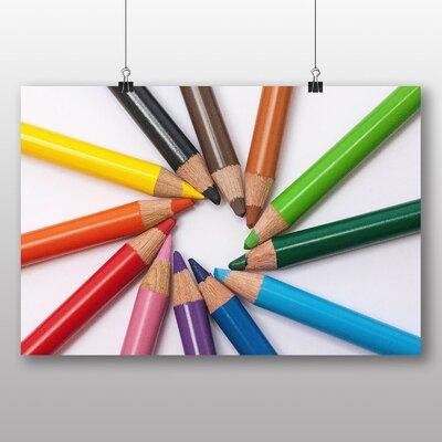 Big Box Art 'Colourful Pencil Crayons No.2' Photographic Print