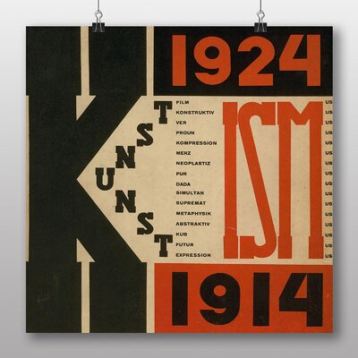 Big Box Art '1924' by El Lissitzky Typography