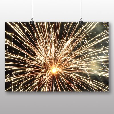 Big Box Art Fireworks at Night No.2 Graphic Art Wrapped on Canvas