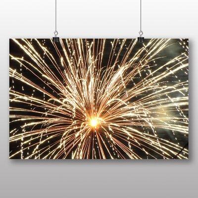 Big Box Art Fireworks at Night Photographic Print