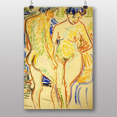 "Big Box Art ""Couple Sketch"" by Ernst Ludwig Kirchner Art Print"