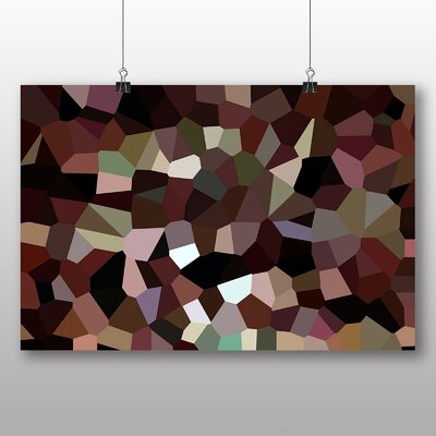 Big Box Art Crystallise Abstract No.2 Graphic Art Wrapped on Canvas