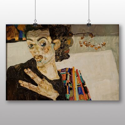 Big Box Art Self Portrait No.2' by Egon Schiele Art Print