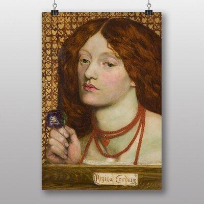 "Big Box Art ""Woman with Purple Flower"" by Dante Gabriel Rossetti Art Print"