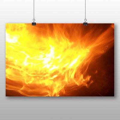 Big Box Art Flames Abstract No.1 Graphic Art on Canvas
