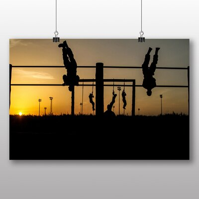 Big Box Art Fitness Soldiers Photographic Print on Canvas