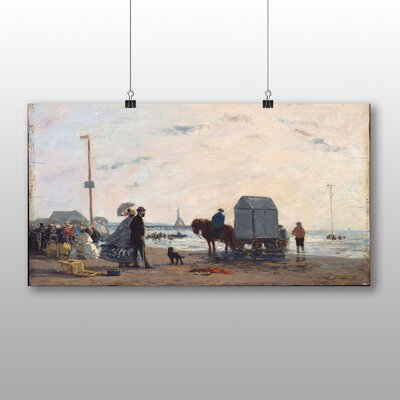 Big Box Art 'Beach at Dusk' by Eugene Boudin Art Print