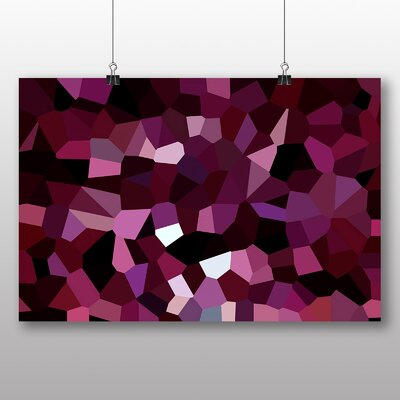 Big Box Art Crystallise Abstract No.4 Graphic Art Wrapped on Canvas