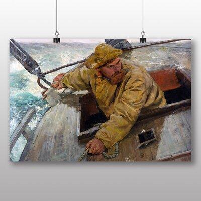 Big Box Art 'Maleriet Hardt Fisherman' by Christian Krohg Art Print