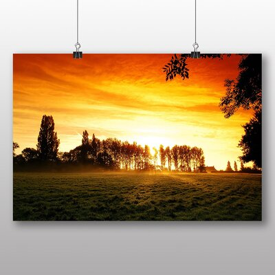Big Box Art Evening Sunset No.2 Photographic Print Wrapped on Canvas