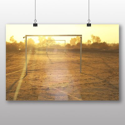 Big Box Art Football Goals Photographic Print Wrapped on Canvas