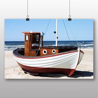 Big Box Art Fishing Boat Lokken Denmark Photographic Print on Canvas