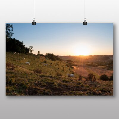 Big Box Art 'Cows at Dawn' Photographic Print