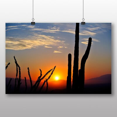 Big Box Art Cactus Sunset No.2 Photographic Print Wrapped on Canvas