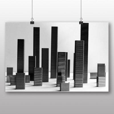 Big Box Art City Skyline Abstract No.1 Graphic Art on Canvas