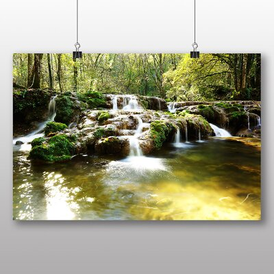 Big Box Art Forest Wood Stream No.6 Photographic Print Wrapped on Canvas