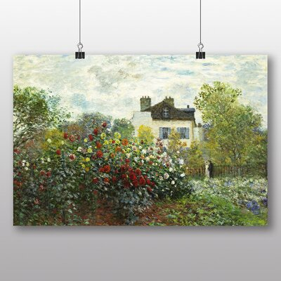 Big Box Art 'Garden in Argenteuil' by Claude Monet Art Print