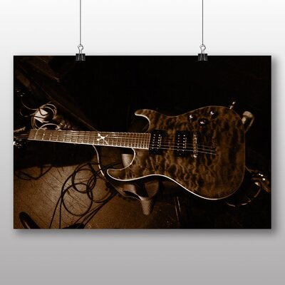 Big Box Art Electric Guitar No.2 Photographic Print Wrapped on Canvas