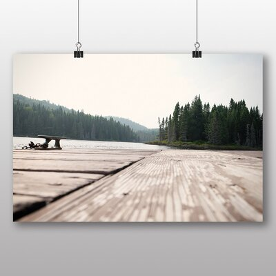 Big Box Art 'Forest Wood and Lake View' Photographic Print