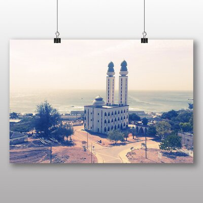 Big Box Art Dakar Senegal Fisherman Mosque Photographic Print Wrapped on Canvas