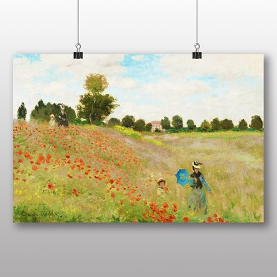 Big Box Art Poppy Field' by Claude Monet Art Print
