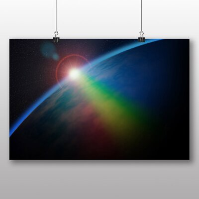 Big Box Art Earth From Space No.1 Graphic Art Wrapped on Canvas