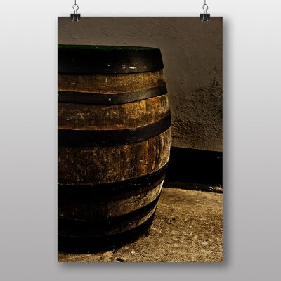 Big Box Art Distillery Barrel Beer Keg No.3 Photographic Print Wrapped on Canvas