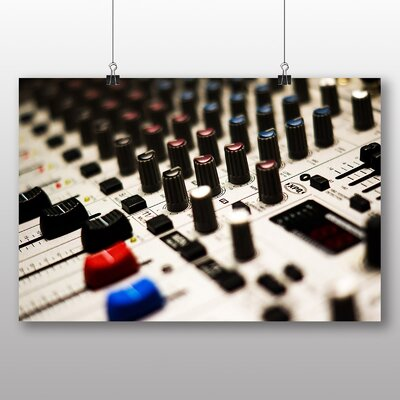 Big Box Art DJ Mixer and Faders No.1 Photographic Print Wrapped on Canvas