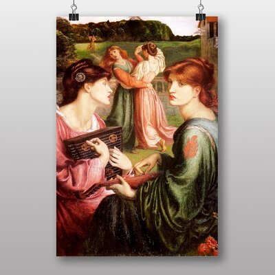 "Big Box Art ""The Brower Meadow"" by Dante Gabriel Rossetti Art Print"