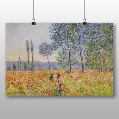 Big Box Art 'Walking in the Fields' by Claude Monet Art Print