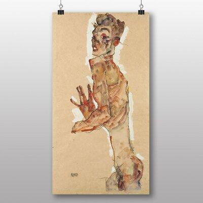 Big Box Art 'Self Portrait No.7' by Egon Schiele Art Print