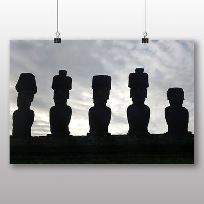 Big Box Art Easter Island Polynesian Triangle Photographic Print Wrapped on Canvas