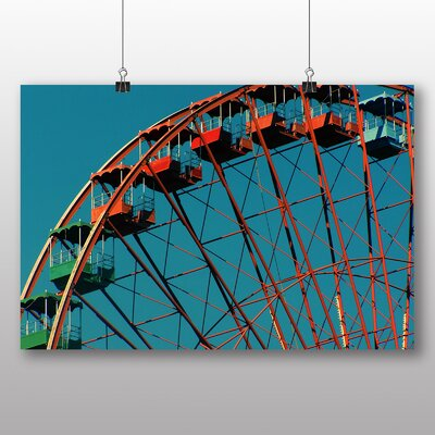 Big Box Art Ferris Wheel Fair Carnival No.3 Photographic Print Wrapped Wrapped on Canvas