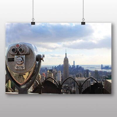 Big Box Art Empire State Building New York City No.6 Photographic Print Wrapped on Canvas