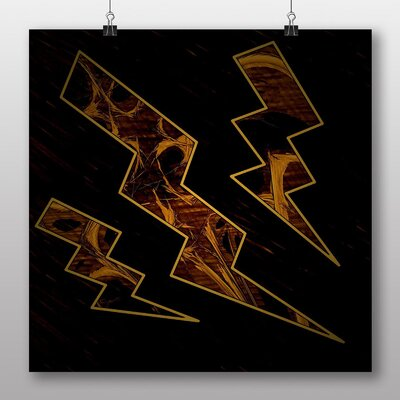 Big Box Art Flash Abstract No.2 Graphic Art Wrapped on Canvas