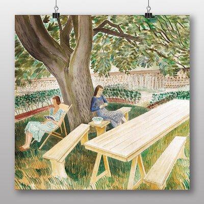 "Big Box Art ""Resting"" by Eric Ravilious Art Print on Canvas"