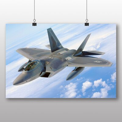 Big Box Art Fighter Jet No.14 Photographic Print Wrapped on Canvas