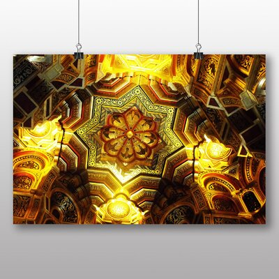 Big Box Art Cardiff Castle Ceiling Wales Photographic Print on Canvas