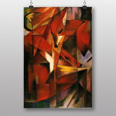 "Big Box Art ""The Foxes"" by Franz Marc Art Print"