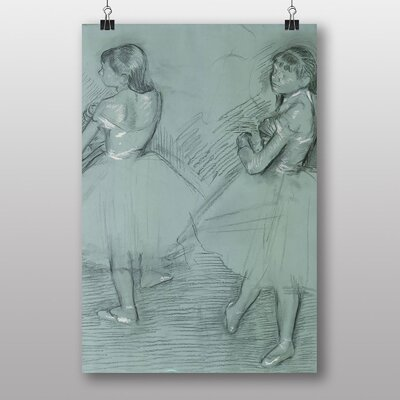 "Big Box Art ""Two Dancers Sketch"" by Edgar Degas Art Print"