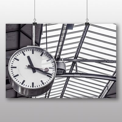 Big Box Art Station Clock Photographic Print
