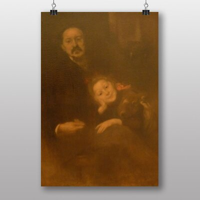 "Big Box Art ""Father with Daughter"" by Eugene Carriere Art Print"