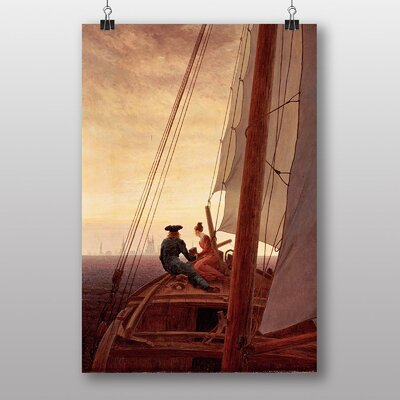 "Big Box Art ""On a Sailing Ship"" by Caspar David Friedrich Art Print"