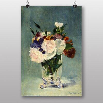 "Big Box Art ""Flowers in a Crystal Vase"" by Edouard Manet Art Print"