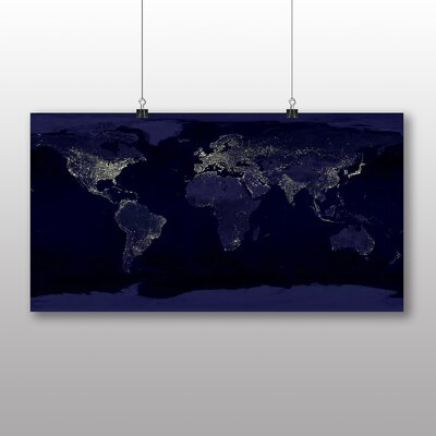 Big Box Art Earth From Space No.4 Graphic Art on Canvas