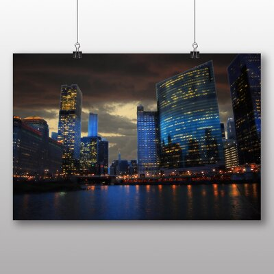 Big Box Art Downtown Chicago USA Photographic Print on Canvas