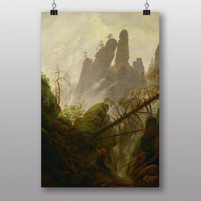 Big Box Art Rocky Ravine by Caspar David Friedrich Art Print