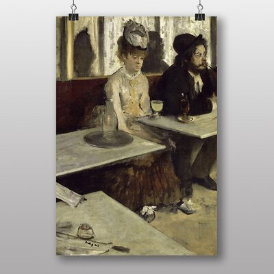 "Big Box Art ""Absinthe Drinkers in a Cafe"" by Edgar Degas Art Print"
