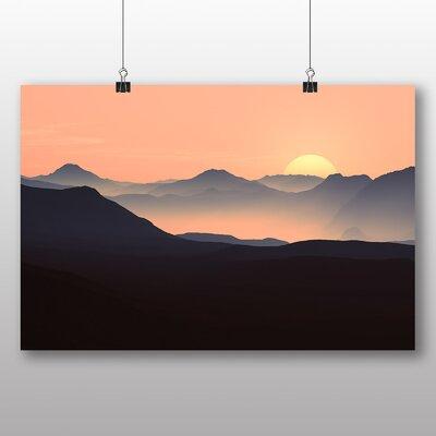 Big Box Art Evening Sunset Mountain Photographic Print